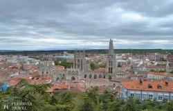 Burgos látképe a katedrálissal