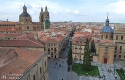 panoráma Salamanca gyönyörű óvárosára és az egyetemre
