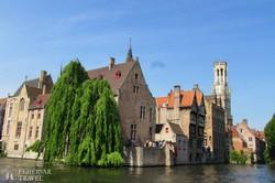 városnéző csónaktúra Bruges-ben