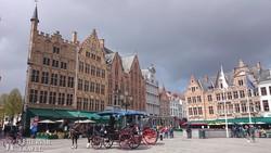 Bruges gyönyörű főtere – részlet