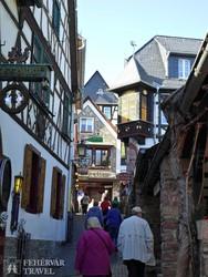 séta Mainz favázas házai között