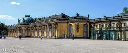 a Sanssouci kastély Potsdamban