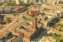 Berlin: a Vörös városháza a tévétoronyból