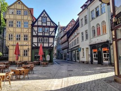 quedlinburgi utcakép
