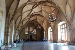 az Ulászló terem a Prágai Várban