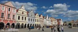 Telč – a csodás színekkel festett lábas házak