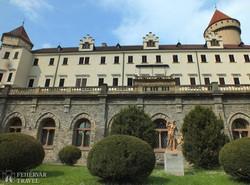 a Konopiště kastély romantikus épülete