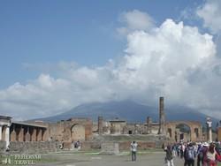 Pompeji: a fórum maradványai