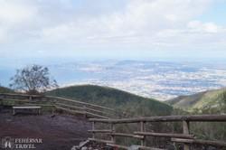 panoráma a Nápolyi-öbölre a Vezúvról