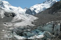 a Morteratsch-gleccser Svájcban