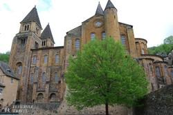 a román kori St. Foy apátsági templom Conques-ban