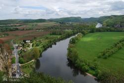 panoráma a Dordogne-vidékre Beynac várából