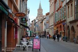 Toulouse egy hangulatos sétálóutcája