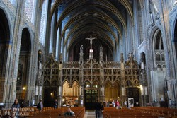 Albi – a katedrális belső tere