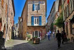 hangulatos utcák Cordes-sur-Ciel-ben