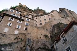 Rocamadour sziklába vájt városa