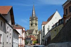Nagyszeben: az evangélikus Nagytemplom tornya