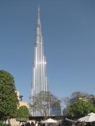 a Burj Khalifa épülete Dubaiban