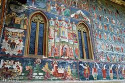 Sucevita kolostorának festett külső falai