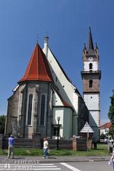 Beszterce gótikus evangélikus temploma