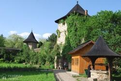 Moldovita kolostorának udvara
