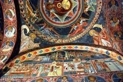 Voronet kolostorának gyönyörű mennyezete