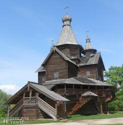 ősi faépület Novgorod skanzenjében