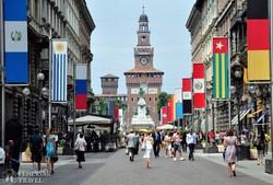 Via Dante, Milánó egyik fő bevásárló-utcája