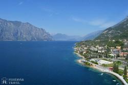 panoráma a Garda-tóra Malcesine várából