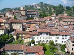 Bergamo Felsővárosa a Várostoronyból – részlet