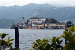 San Giulio-szigete az Orta-tavon