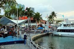 Miami: a Bayside Marketplace (a kikötő melletti bevásárló központ)