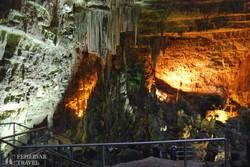 a castellanai cseppkőbarlang egy részlete