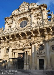 Lecce – a Santa Croce-bazilika főhomlokzata