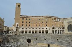 a római amfiteátrum romjai Leccében