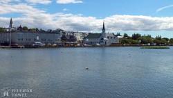 a Tjörnin-tó Reykjavíkban