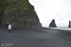 óriási bazaltoszlopok a Fekete-öbölben