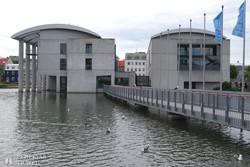 Reykjavík: a Tjörnin-tó partján álló városháza