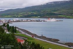 panoráma Akureyri tengerpartjára