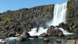 az Öxarárfoss vízesés a Thingvellir Nemzeti Parkban