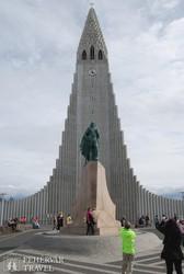 Reykjavík: a Hallgrims-templom homlokzata