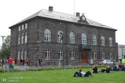 a Parlament épülete Reykjavíkban