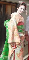 japán gésa tradicionális kimonóban