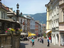 Villach hangulatos sétálóutcája
