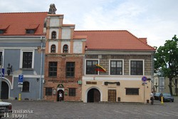 ősi házak Kaunas óvárosában