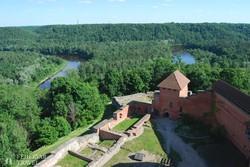 """a """"Livóniai Svájc"""" Turaida várának tornyából"""