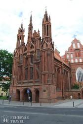 Vilnius: az Anna-templom