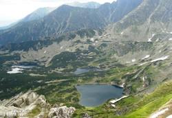 panoráma a Kasprowy Wierchről a Magas-Tátra hegyvilágára