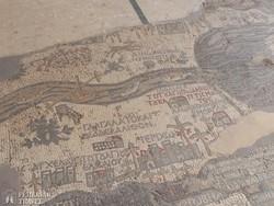 az 1500 éves mozaiktérkép egy részlete a madabai Szent György-templomban