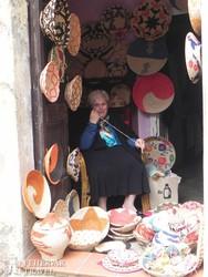 kosárfonó Castelsardo városában